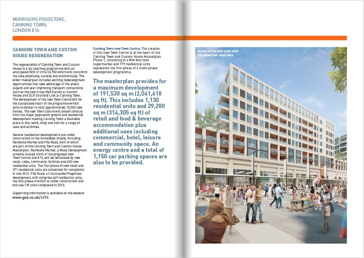 An image of page spread of Canning Town brochure by talltony