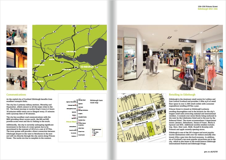 An image spread of 104-106 Princes Street Brochure